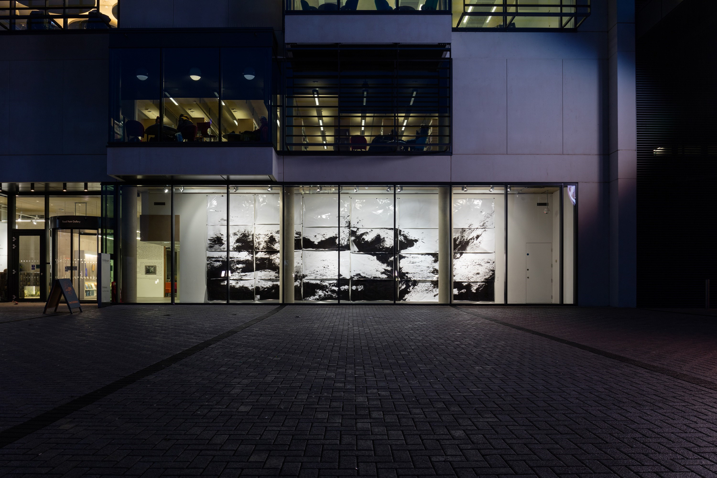 cliché verre<br />silver gelatine prints, ca. 400cm x 900cm<br />installation view Caprona, Focal Point Gallery, Southend, GB