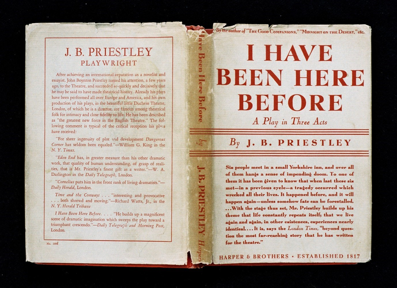 I have been here before (J.B. Priestley; Harper & Brothers Publishers), <br />25 x 34 cm, C-Print, 2014