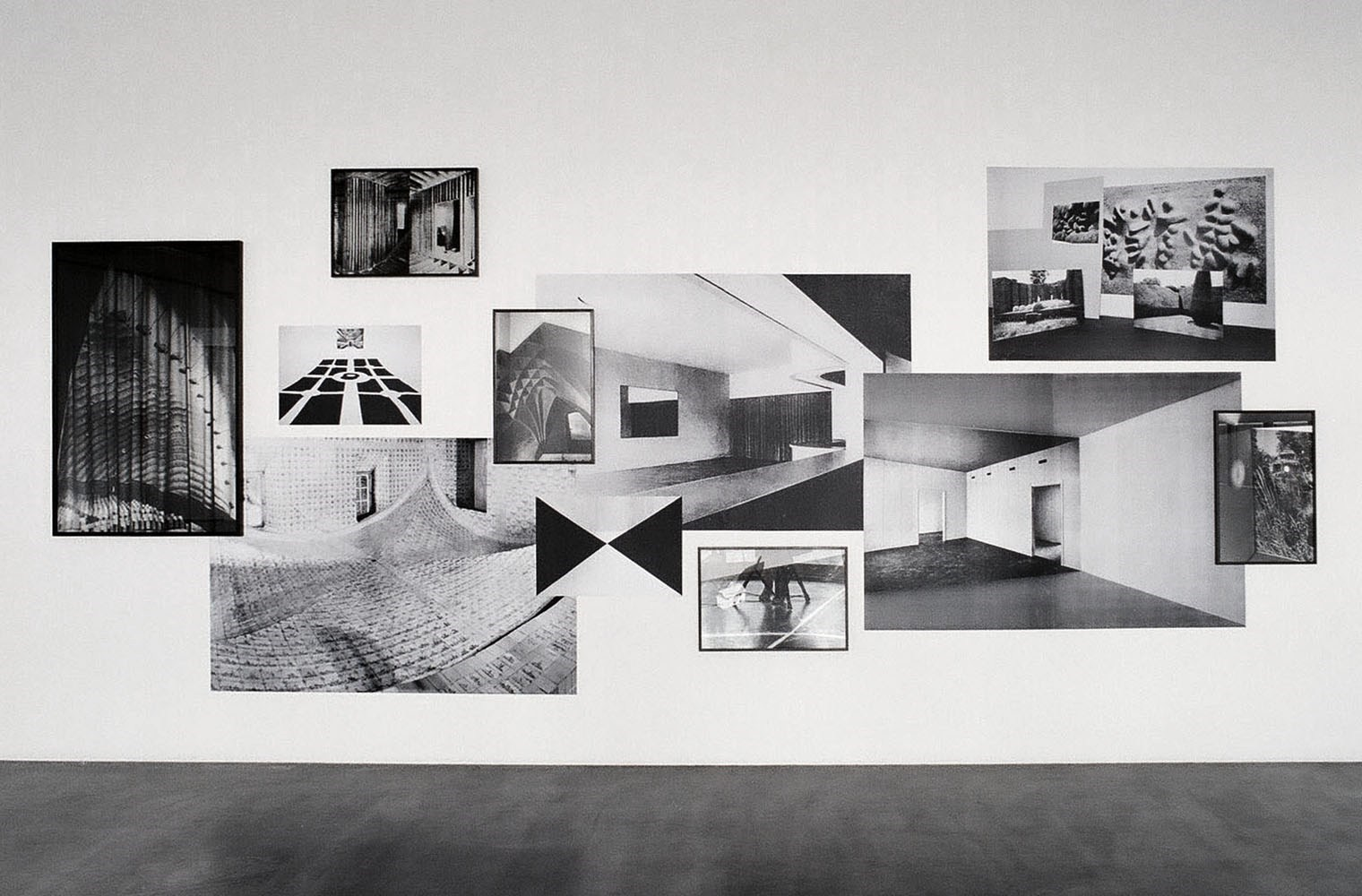 b&w prints and silver gelatin prints, dimensions variable, 2010<br />Installation view Wiels, Brussels
