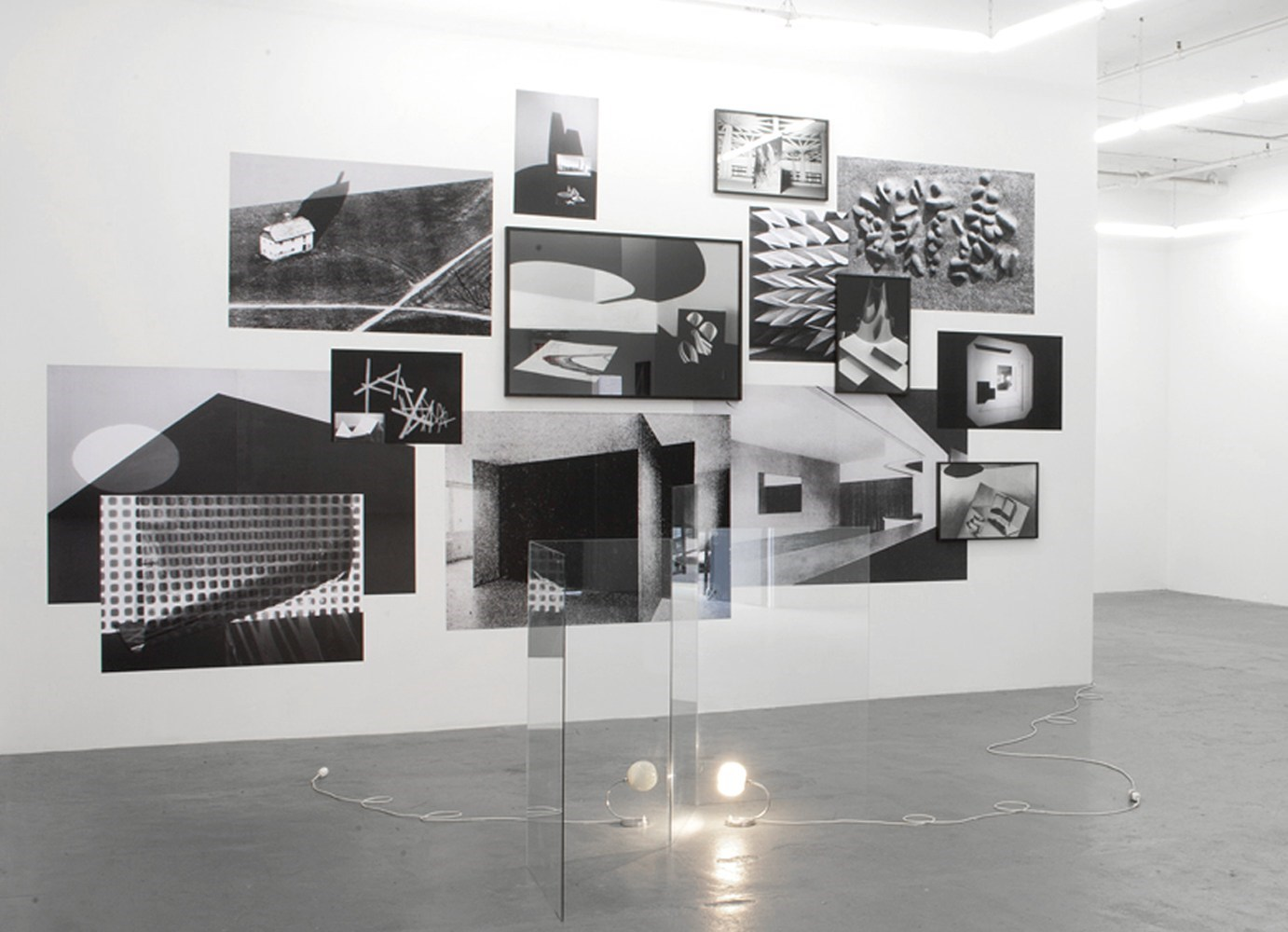 black & white prints and silver gelatin prints, dimensions variable, 2009<br />Installation view Harris Lieberman, New York